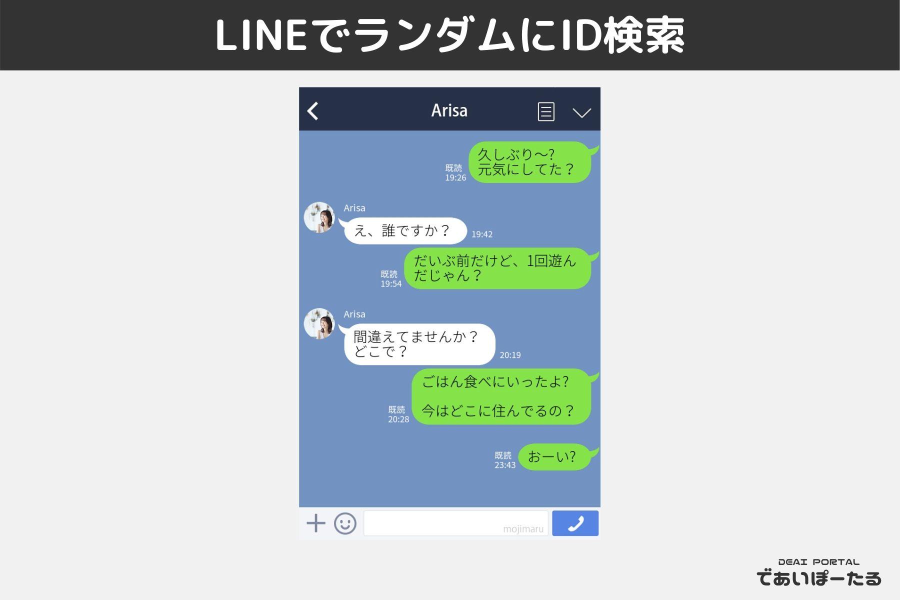 LINE やりとり